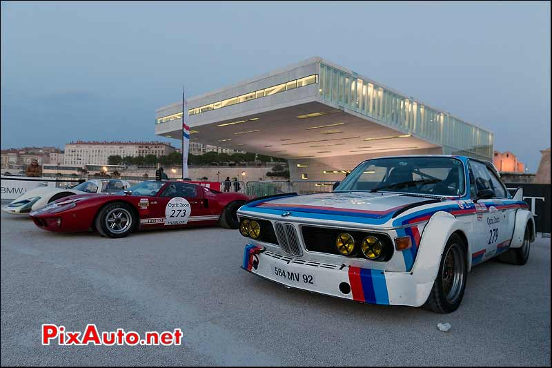 BMW 3.0CSL n°279, Parc ferme Marseille, Tour-Auto-Optic-2000