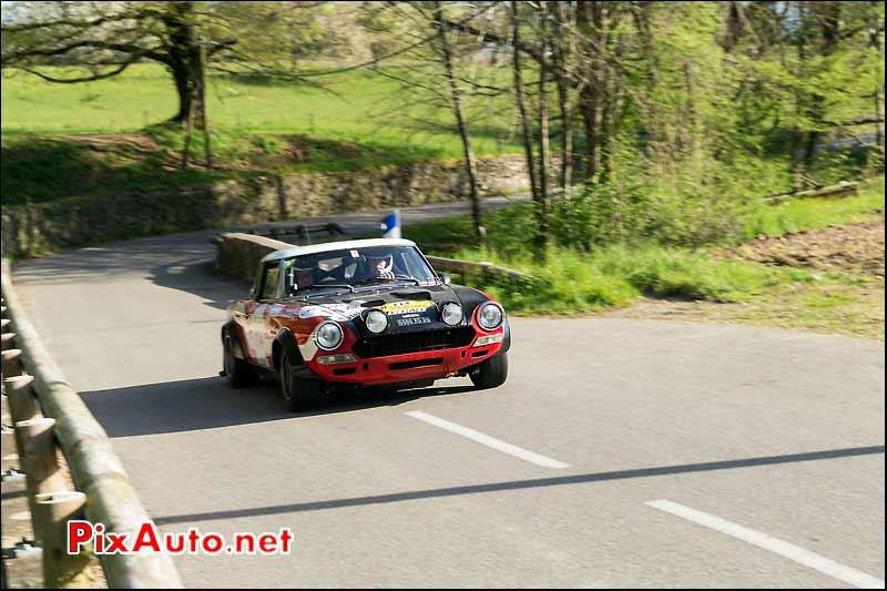 Fiat 124 Abarth, route Savoie, Tour-Auto-Optic-2000