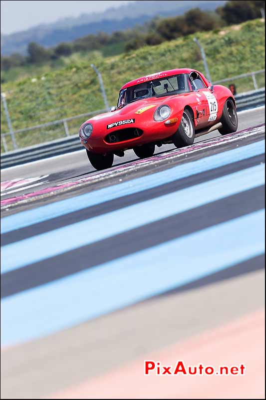 Jaguar E-Type, circuit Paul Ricard, Tour-Auto-Optic-2000