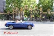 MG-B Cabriolet, parc Monceau, Traversee de Paris estivale