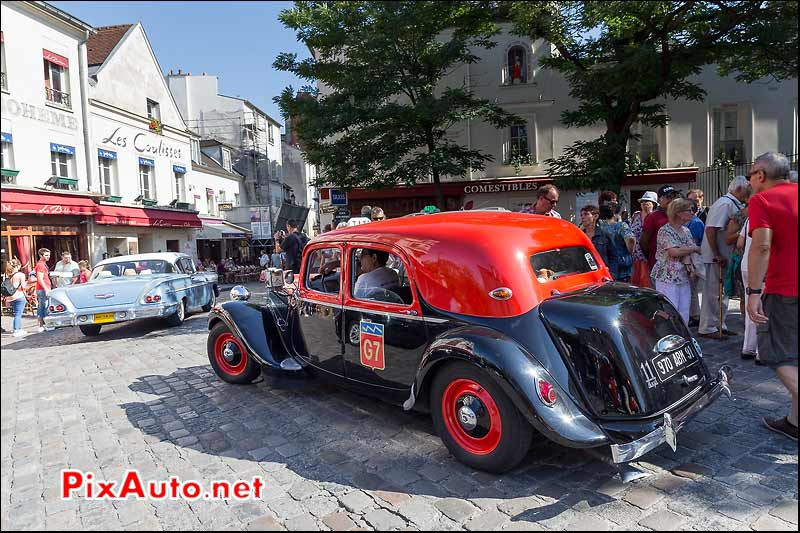 Taxi Citroen Traction 11, Traversee de Paris estivale