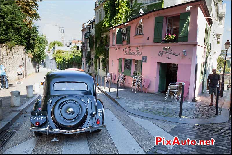 Citroen Traction Butte Montmartre, Traversee de Paris estivale