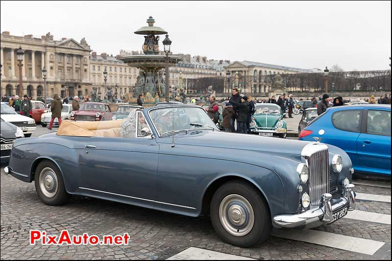 Bentley Continental Drophead, Traversee de Paris 2014
