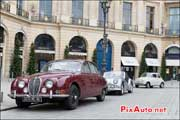 Jaguar MK, place Vendomes, 14e Traversee de Paris
