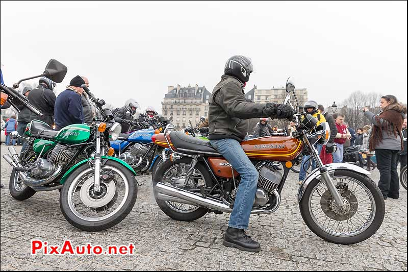 Kawasaki KH500, Traversee de Paris 2014