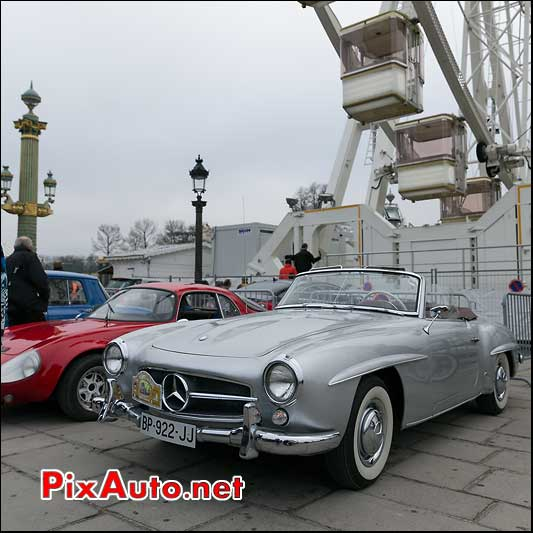 Mercedes-Benz 190SL cabriolet, Traversee de Paris 2014