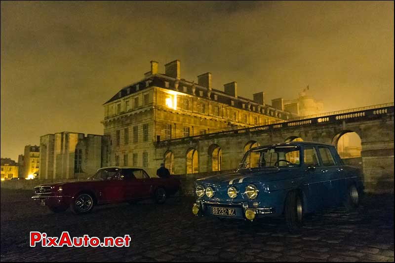 Renault 8 Gordini et Ford Mustang, chateau Vincennes