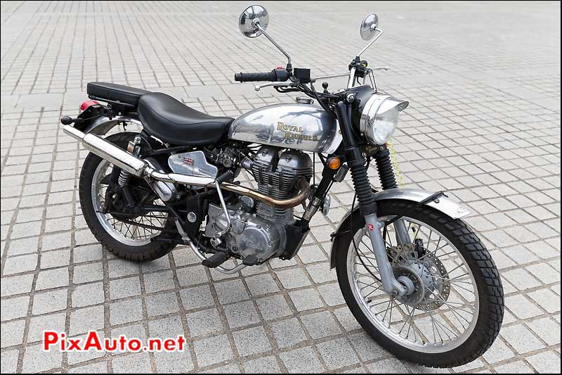 Scrambler Royal Enfiefd, Traversee de Paris 2014
