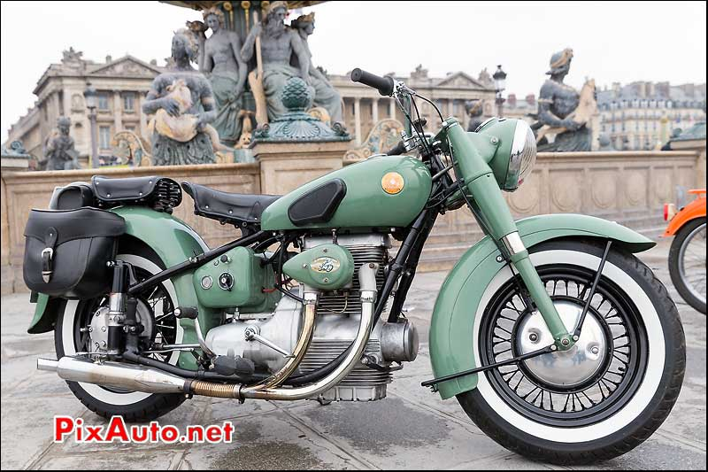 Moto Sunbeam S7 500cc, Traversee de Paris 2014