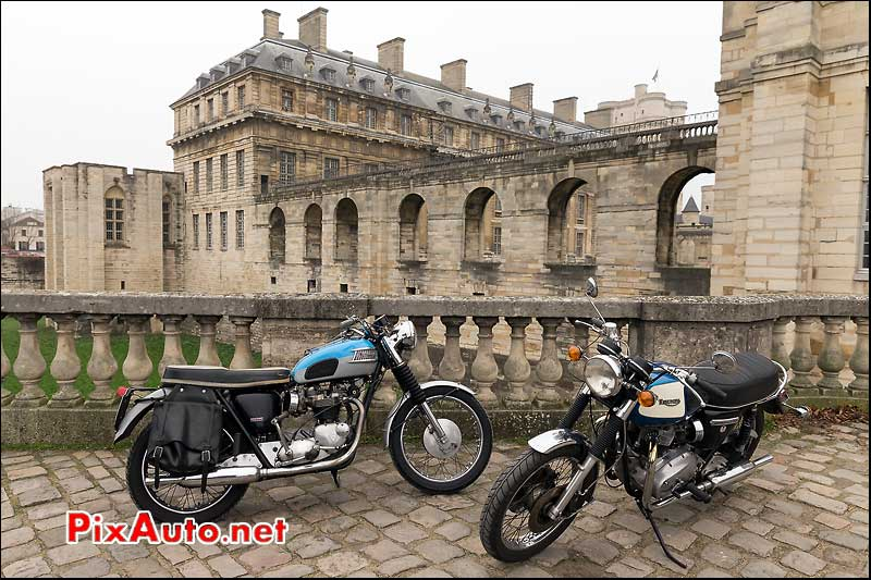 Triumph Bonneville 750, Traversee de Paris 2014