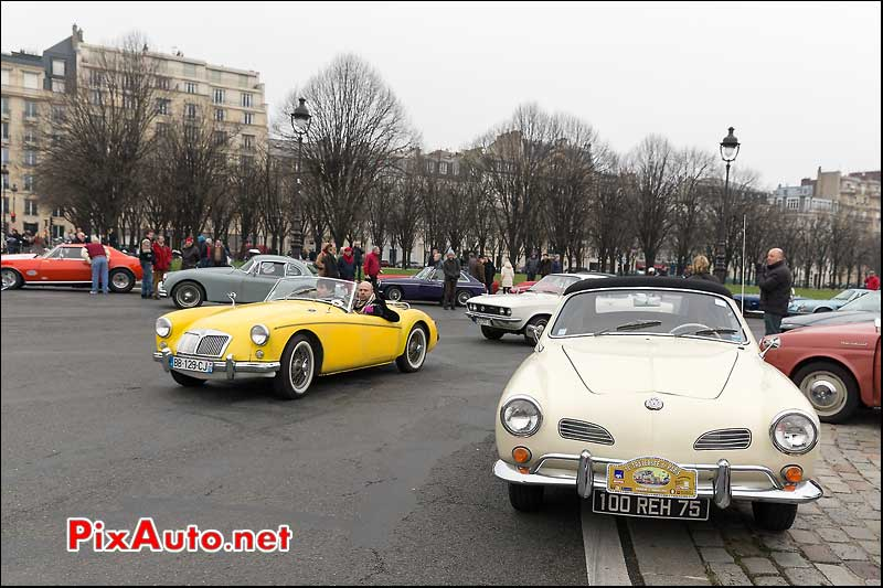 VW Karmann et MG, Traversee de Paris 2014