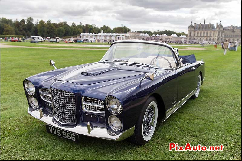 Chantilly-Arts-&-Elegance-Richard-Mille, Facel Vega FK2II Convertible 1957