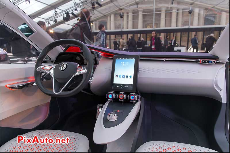 Exposition Concept-Cars, Renault Eolab Habitacle