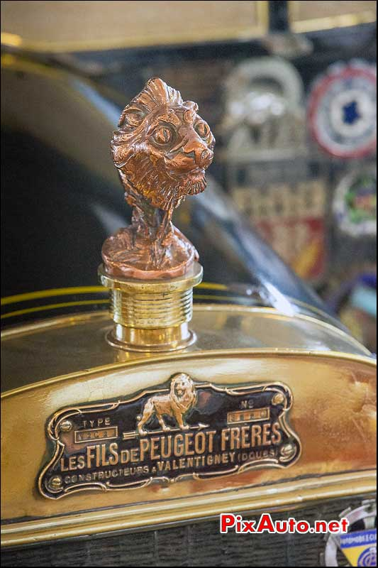 Musee-Automobile-Vendee, Mascotte Lion Peugeot Freres