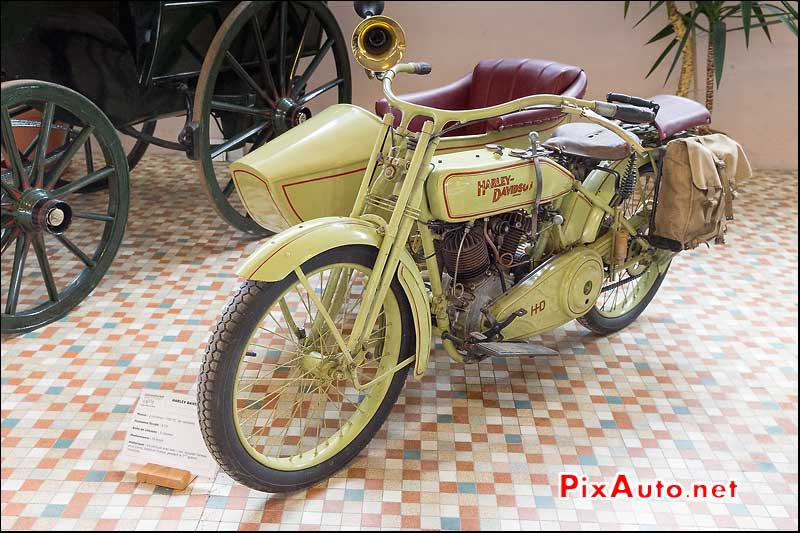 Musee-Automobile-Vendee, Side Car Harley-Davidson