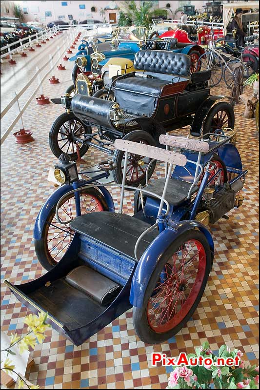 Musee-Automobile-Vendee, Tricyclecar Leon Bollee 1898