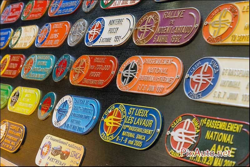 Automedon, Plaques Rallye Club Simca France