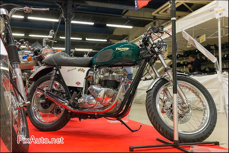 Salon-Moto-Legende 2015, Cafe Racer Triumph Bonneville T140