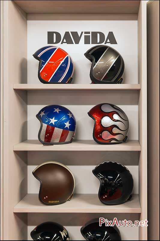 Salon-Moto-Legende 2015, Casques Davida