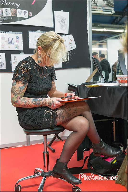 Salon-Moto-Legende 2015, Le 128 Tattoo Shop