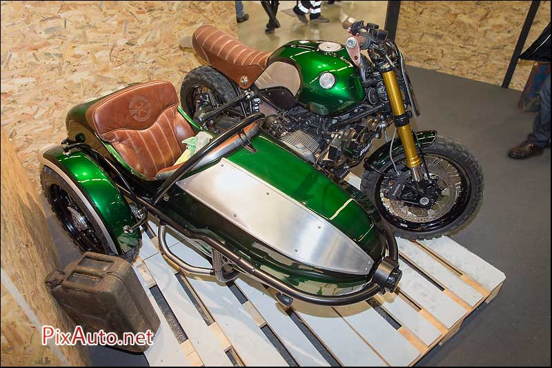 Salon-Moto-Legende 2015,  side-car Lechappeebelle Ose Kustommotorworks