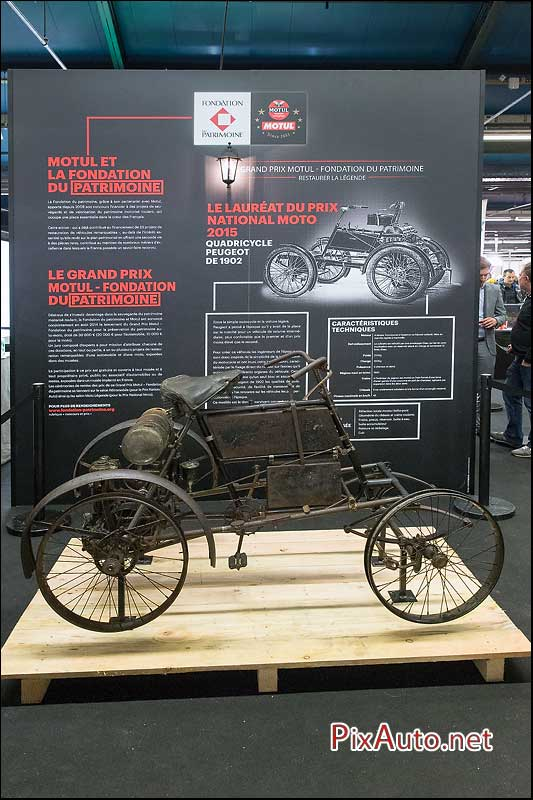 Salon-Moto-Legende 2015, Quadricycle Peugeot 1902