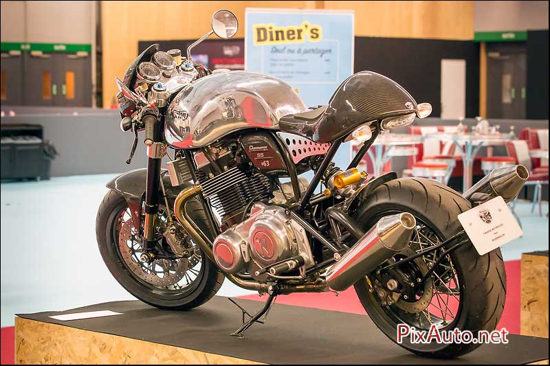 Salon-de-la-Moto, cafe-racer Norton Dominator SS