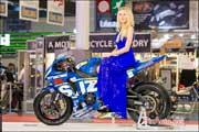 Salon-de-la-Moto 2015, Hotesse Suzuki GSX-R 1000 Superbike