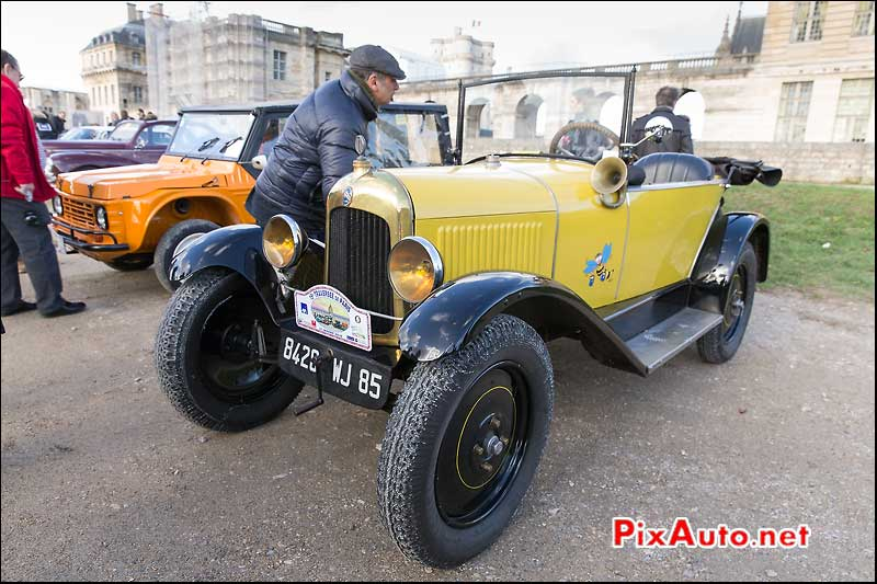 15e Traversee de Paris, Citroen 5hp, chateau vincennes