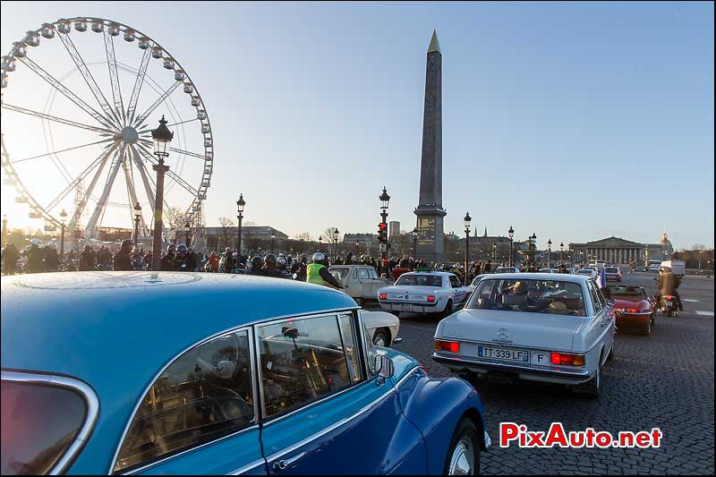 Traversee de Paris 2015, Place de la Concorde