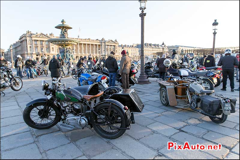 Traversee de Paris, Side Car Rene Gillet, concorde