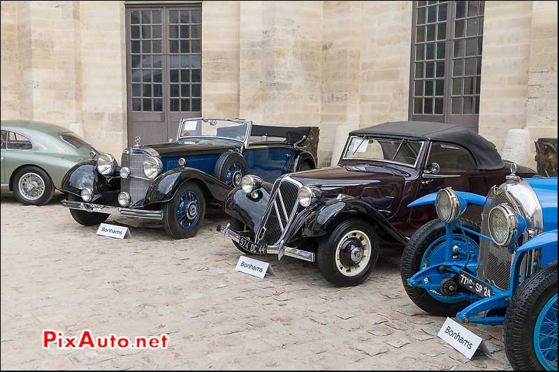 Bonhams A Chantilly, Traction Avant et Mercedes 500K Cabriolet