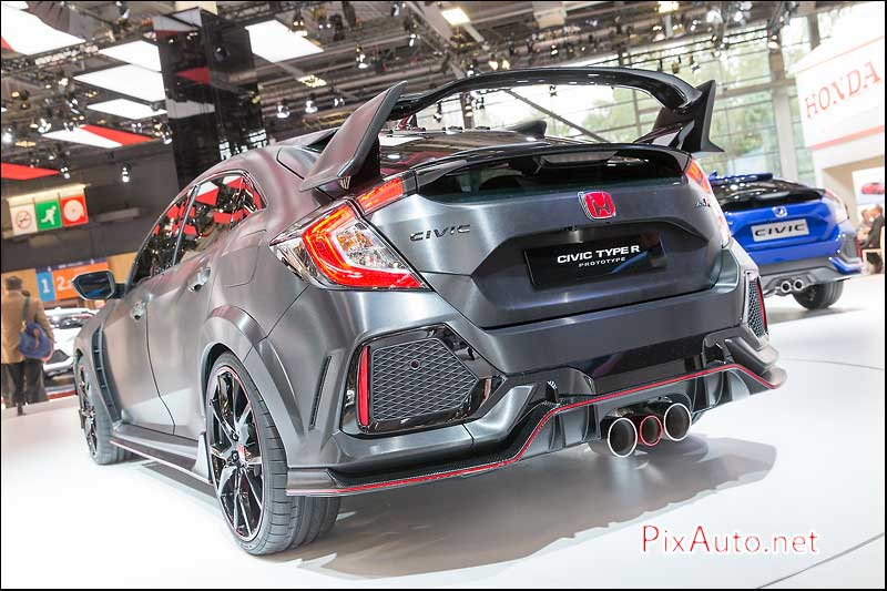 MondialdelAutomobile-Paris, Honda Civic Type R Prototype Arriere