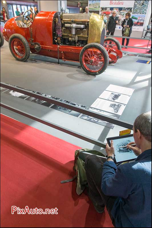 Salon Retromobile, Fiat S76 des records