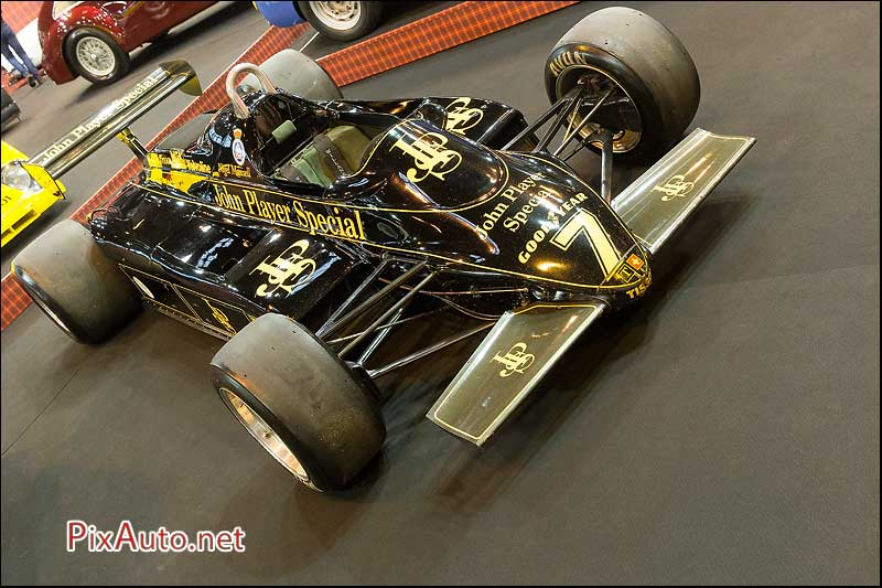 Retromobile, Lotus 91/7 aux couleurs John Player Special Nigel Mansell
