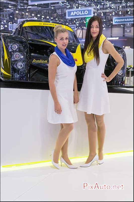 Salon-auto-geneve, Hotesses Stand Dunlop