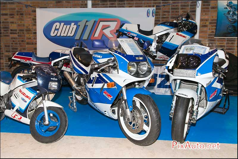 Salon-Moto-Legende, les Suzuki GSXR du Club 11 R
