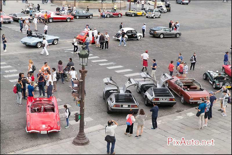 Traversee-de-Paris-Estivale, Delorean Place De La Concorde