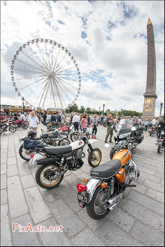 Traversee-de-Paris-Estivale, Motos Place Concorde