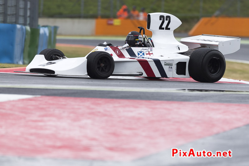 Grand-Prix-de-France-Historique, F1 #22 Hesketh 308/1 de 1974