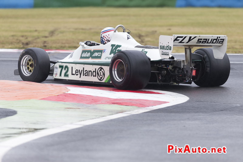 Grand-Prix-de-France-Historique, F1 Williams FW07B au Raccordement