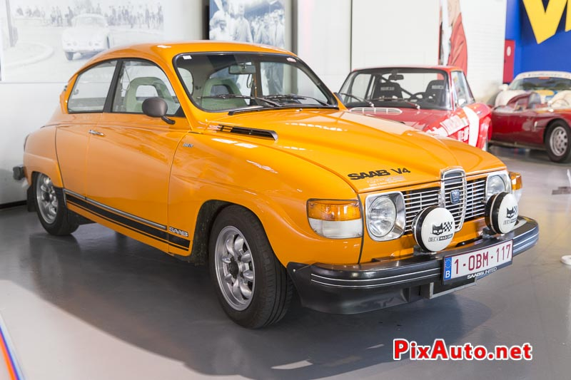 Autoworld, SAAB Story, Saab 96 GL V4 Orange