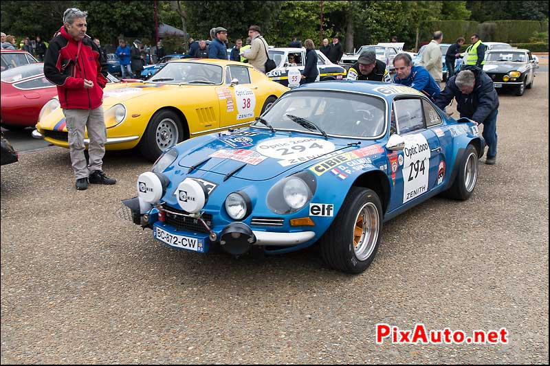 Tour-Auto-Optic-2000, Demarrage a La Poussette Alpine-Renault A110 #294