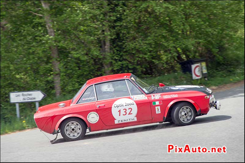 Tour-Auto-Optic-2000, Lancia Fulvia #132 en direction des Roches du Diable
