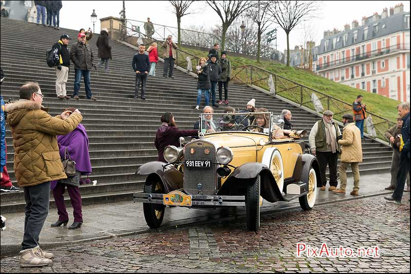 Traversee-de-Paris Hivernale, Ford A 1931