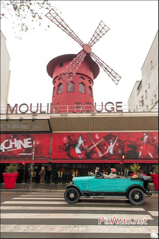 Traversee-de-Paris Hivernale, Torpedo Citroen Au Moulin Rouge