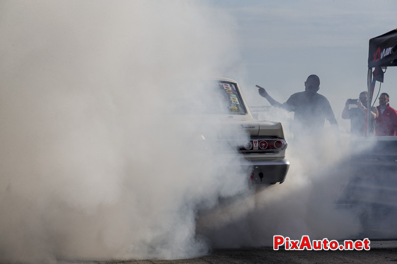 6e European Dragster ATD, Burn-out Mercury Comet Gasser