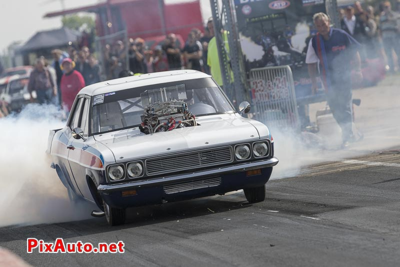 6e European Dragster ATD, Burn-out Vauxhall Victor