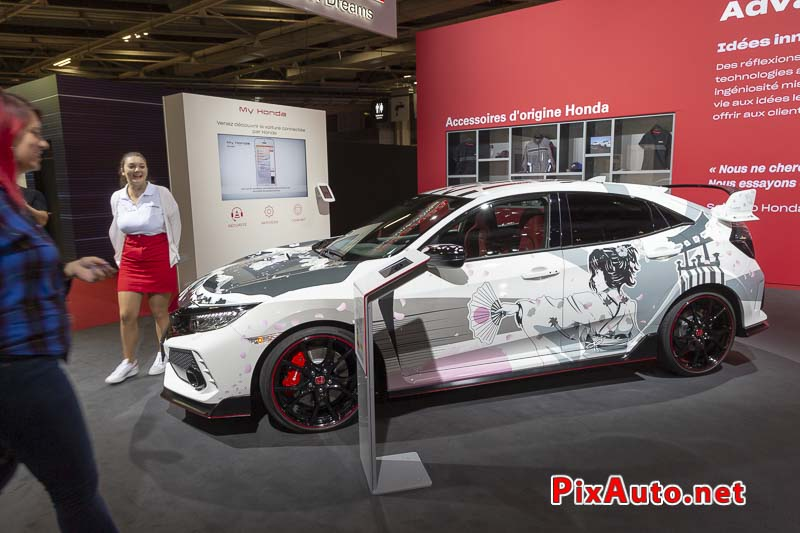 Paris Motor Show, Art Car Honda Civic R Manga