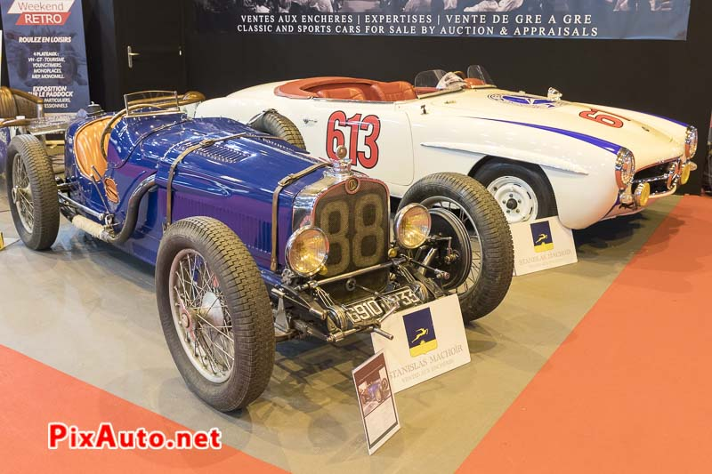 Salon-Retromobile, Casimir Ragot et Mercedes 190 Sl